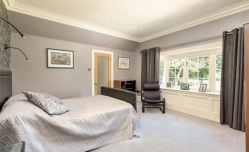Bedroom with grey painted walls